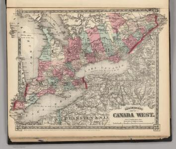 Schonberg's Map of Canada West.