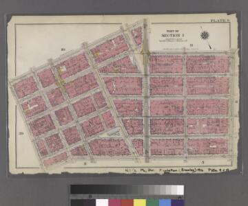 Plate 9: Bounded by N. Moore Street, West Broadway, Franklin Street, Broadway, Reade Street, and West Street.