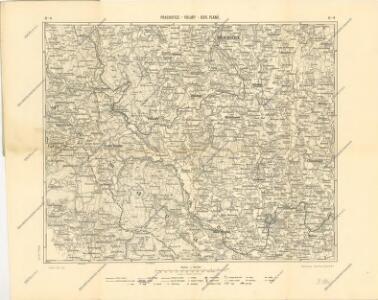 Podrobná mapa království Českého: Prachatice – Volary - Hor. Planá