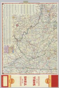 Shell Highway Map of Delaware - Maryland, Virginia, W. Virginia.  (eastern portion).