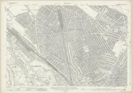 Glamorgan XLIII.11 (includes: Cardiff) - 25 Inch Map