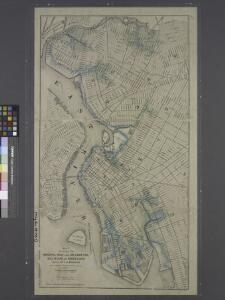 Map showing the original high and low grounds, salt marsh and shore lines in the city of Brooklyn: from original government surveys made in 1776-7.