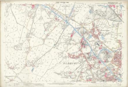 Worcestershire II.13 (includes: Oldbury; Rowley Regis; West Bromwich) - 25 Inch Map
