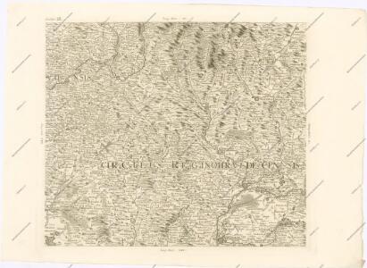 Mappa geographica regni Bohemiae in duodecim circuloc divisae ... Sectio. IX.