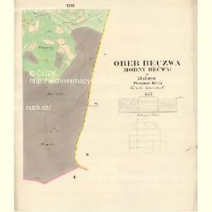 Ober Beczwa (Horny Bečwa) - m0763-1-016 - Kaiserpflichtexemplar der Landkarten des stabilen Katasters