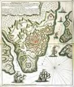 Wahrer und accurater Plan der Vestung Saint Philippe auf der balearischen Ins. Minorca