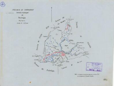 Mapa planimètric de Torroja del Priorat