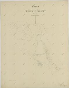 Mapy činžovních pozemků III. sekce třeboňského velkostatku pro obce: Břilice, Domanín, Herda, Holičky, Kojákovice, Spolí, Třeboň 1