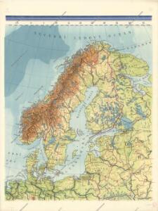 Nástěnná mapa Evropy