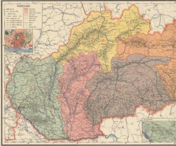 Podrobný přehled politického rozdělení Slovenska a Podkarp. Rusi