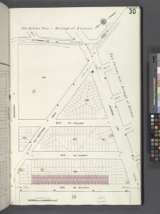 Queens V. 2, Plate No. 30 [Map bounded by Old Bowery Bay Rd., Jackson Ave., 18th Ave., Broadway]