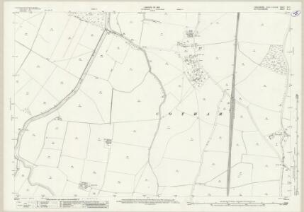 Lincolnshire CIII.3 (includes: Balderton; Cotham; East Stoke; Elston; Hawton; Long Bennington) - 25 Inch Map
