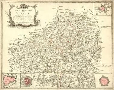 Carte Particuliere de la Moravie divisée en six cercles