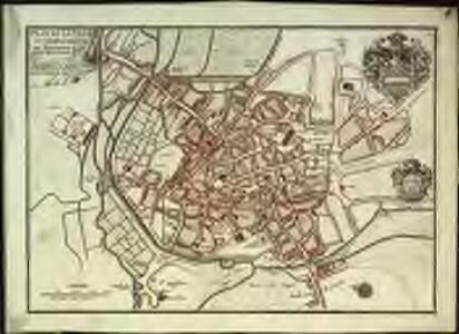 Plan de la ville et des fauxbourgs de Bourges capitale de la province de Berri