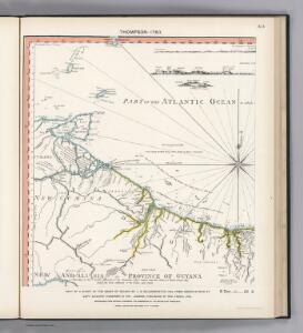 Facsimile:  Part of Chart of the Guiana Coast by Thompson.