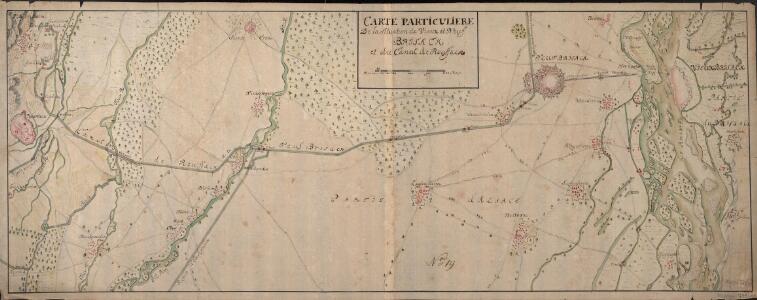 Carte Particuliere De la Situation de Vieux et Neuf Brisack et du Canal de Roussack