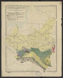 Carte géologique de la République Polonaise