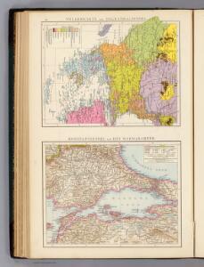 Volkerkarte Balkanhalbinsel, Konstantinopel, Marmarameer.