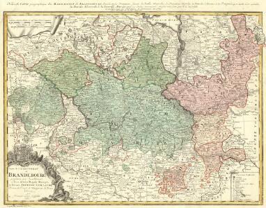 Carte de l'Electorat de Brandebourg presentée très humblement à Son Altesse Rojale Monsgr. le Prince Fréderic Guillaume, Prince de Prusse & Marggrave de Brandebourg