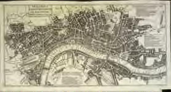 A pocket map of London, Westminster and Southwark