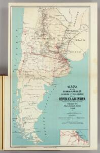 Ferro-carriles, correos y telegrafos, Republica Argentina.