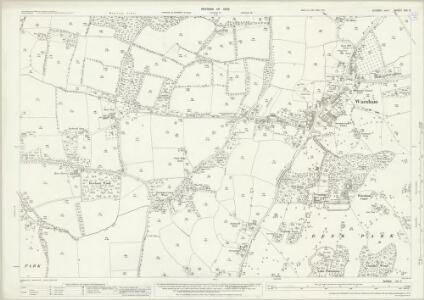 Sussex XIII.3 (includes: Slinfold; Warnham) - 25 Inch Map