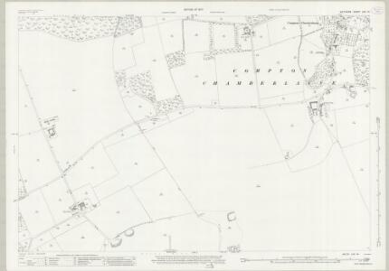 Wiltshire LXV.14 (includes: Compton Chamberlayne; Fovant) - 25 Inch Map