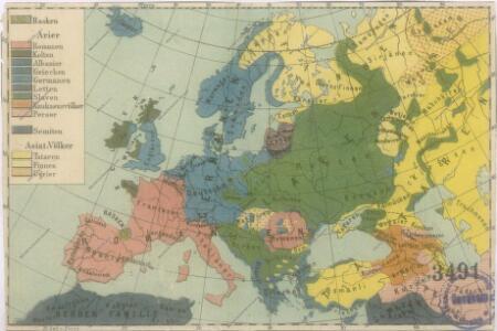 Sprachenkarte von Evropa