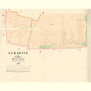 Lukawitz - m1656-1-002 - Kaiserpflichtexemplar der Landkarten des stabilen Katasters