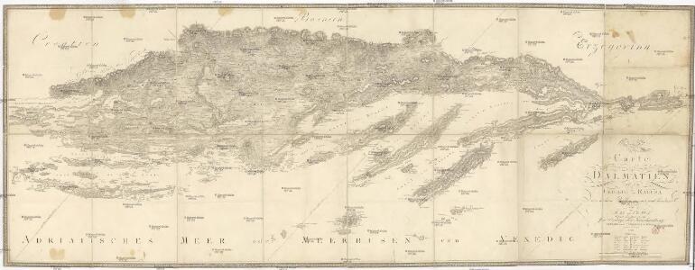 Carte von Dalmatien und dem Gebieth von Ragusa