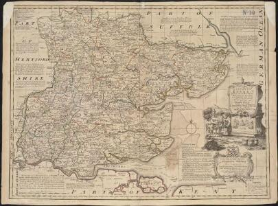 An accurate map of the county of Essex, divided into its hundreds