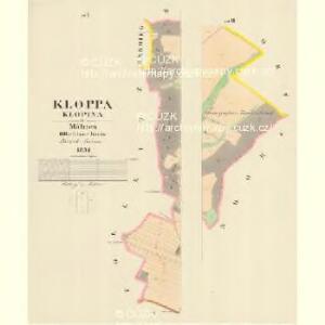 Kloppa (Klopina) - m1205-1-004 - Kaiserpflichtexemplar der Landkarten des stabilen Katasters