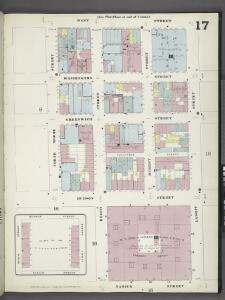 Manhattan, V. 1, Plate No. 17 [Map bounded by West St., Laight St., Varick St., North Moore St.]