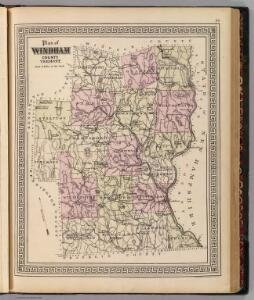 Plan of Windham County, Vermont.