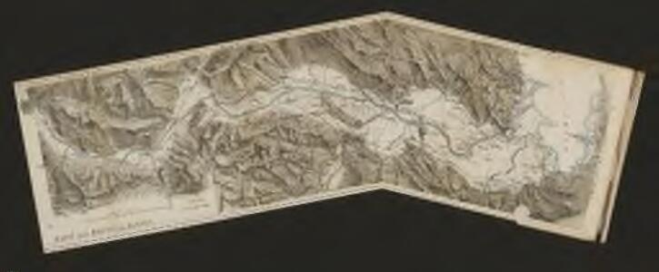 Karte der Arlbergbahn und Rheintalbahn