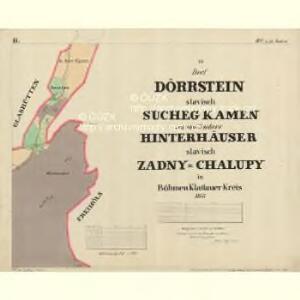 Dörrstein - c7558-1-002 - Kaiserpflichtexemplar der Landkarten des stabilen Katasters