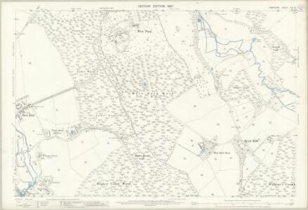 Hampshire and Isle of Wight LIV.14 (includes: Damerham; Rockbourne) - 25 Inch Map