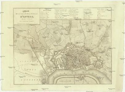 Plan de la ville et de la citadelle d'Anvers