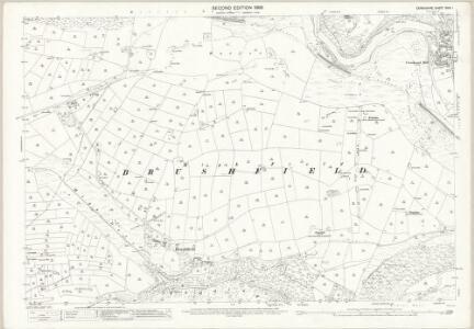 Derbyshire XXIII.1 (includes: Ashford; Brushfield; Little Longstone; Litton; Taddington) - 25 Inch Map