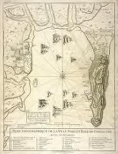 Plan topographique de la ville port, et baye de Gibraltar et de ses environs