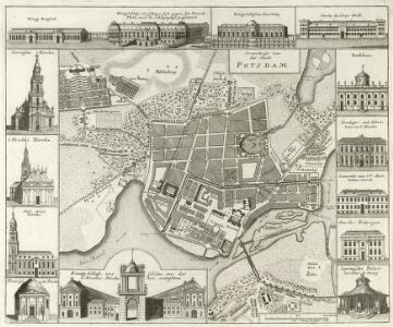 Grundriss von der Stadt Potsdam