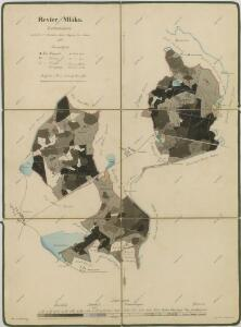 Porostní mapa polesí Mláka 1
