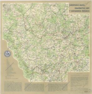 Turistická mapa značených cest v západních Čechách