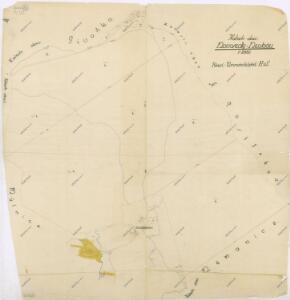 Katastrální mapa panských pozemků osady Novosedlské Hutě