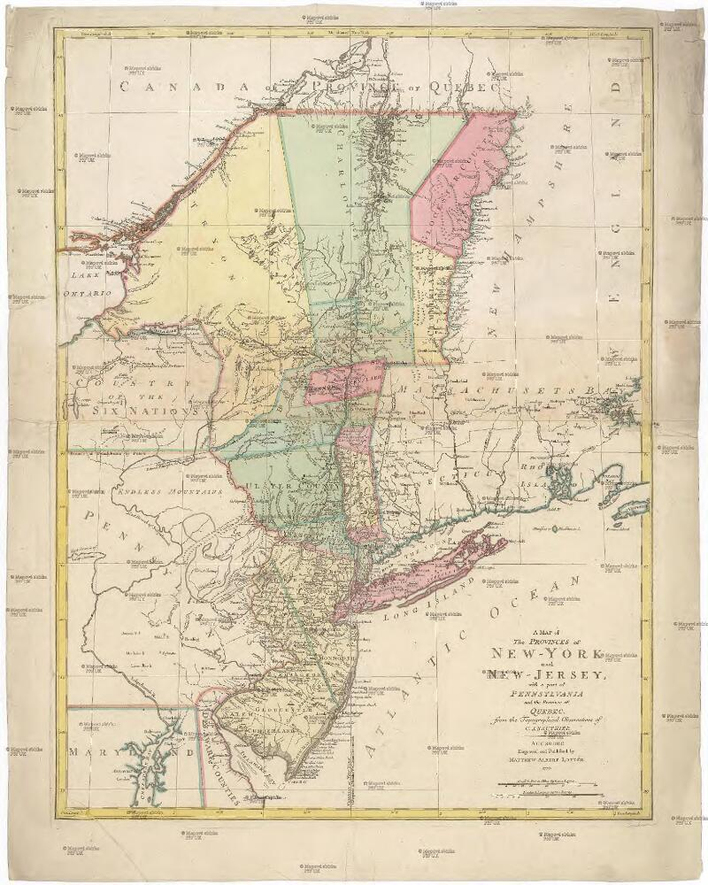 A Map Of The Provinces Of New York And New Jersey With A Part Of