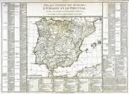Tableau général des royaumes d'Espagne et de Portugal