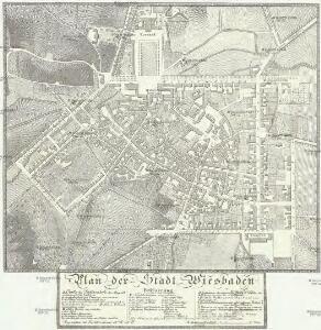 Plan der Stadt Wiesbaden