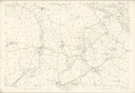 Montgomeryshire V.10 (includes: Llanrhaeadr Ym Mochnant; Minffrwd) - 25 Inch Map
