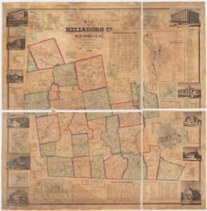Map of Hillsboro Co., New Hampshire