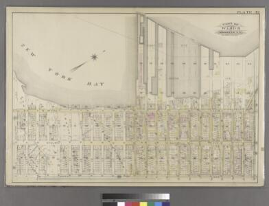 [Plate 32: Bounded by (New York Bay & Piers) Third Avenue, Prospect Avenue, Fifth Avenue and 38th Street.]